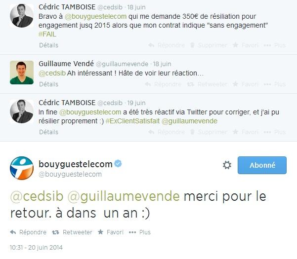 @BouyguesTelecom : erreur dans la résiliation via l'Espace Client