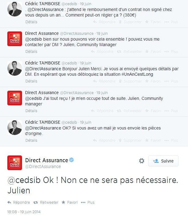 @DirectAssurance : difficulté à obtenir un remboursement dû de 381€