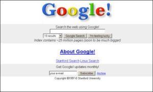 google il y a quelques année