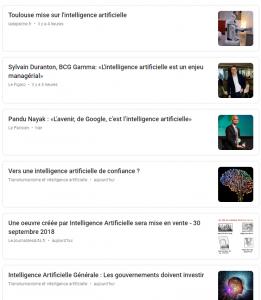 intelligence artificielle google news